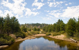 Scenic lake in countryside Stock Images