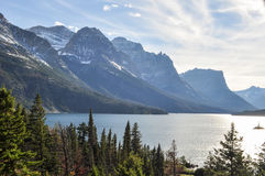 Scenic Lake Glacier National Park Royalty Free Stock Photos