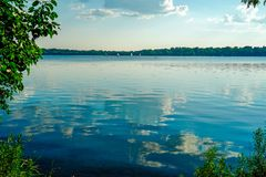 Scenic Lake Harriet in Minneapolis, Minnesota on a sunny summer afternoon Stock Photography