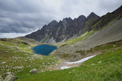 Scenic lake in the high mountains / landscape Royalty Free Stock Images