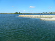 Scenic Lakes Lakefront Image Beautiful Blue Water Stock Photography