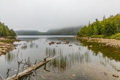 Scenic lake Jordan in Arcadia National Park. Bar Harbor Royalty Free Stock Image