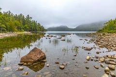 Scenic lake Jordan in Arcadia National Park. Bar Harbor Stock Image