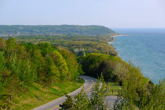 Scenic Lake Michigan overlook Stock Photo