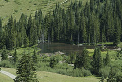 Colorado Mountain Lake 1. Scenic lake in the the mountainous valley Royalty Free Stock Photography