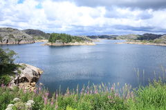 Scenic lake in Norway Royalty Free Stock Photo