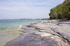 Scenic Lake Ontario shore line Stock Photography