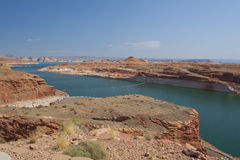Scenic Lake Powell. From glen canyon dam near page arizona Stock Images