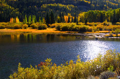 Scenic lake in San Juan mountains Royalty Free Stock Photos