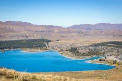 Scenic of Lake Tekapo, New Zealand Royalty Free Stock Image