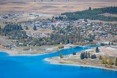 Scenic of Lake Tekapo, New Zealand Stock Photo