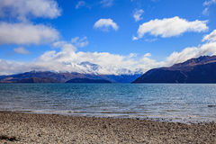 Scenic of lake wanaka south island new zealand   important landm Stock Images