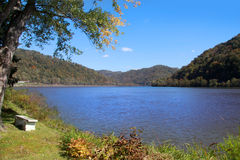 Scenic lake in West Virginia Royalty Free Stock Images