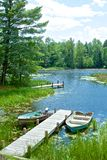 Scenic Lakeside in the North Woods, USA Stock Images