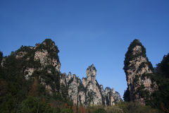 Scenic landscape. China's Hunan Province Zhangjiajie Forest Park royalty free stock photo