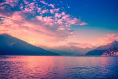 Scenic landscape with Alps and Como lake, Italy. Scenic landscape with the Alps and Como lake, Lombardy, Italy stock photos