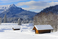 Scenic landscape at alps mountains Royalty Free Stock Image