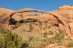 Scenic Landscape Arch in Arches N.P. Royalty Free Stock Image