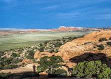 Scenic landscape at arches national park Royalty Free Stock Photo