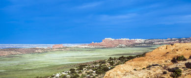 Scenic landscape at arches national park Stock Photography