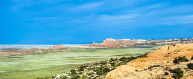 Scenic landscape at arches national park Royalty Free Stock Images