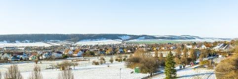 Scenic landscape in Bad Frankenhausen royalty free stock image