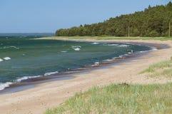 Scenic landscape of Baltic sea beach Stock Photography
