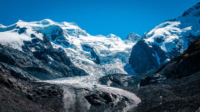 Scenic landscape blue glacier Switzerland Royalty Free Stock Images