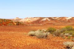 Scenic sacred landscape in the Breakaways, Australia Stock Images