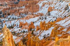 Bryce Canyon Utah in Winter. The scenic landscape of Bryce canyon National park Utah in winter Stock Photo