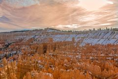 Bryce Canyon Utah Winter Sunset. The scenic landscape of Bryce canyon National park Utah in winter Stock Photography
