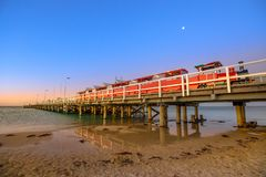 Busselton jetty and train Royalty Free Stock Photos