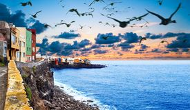Scenic landscape.Canary island  Seascape.Tenerife. Royalty Free Stock Photography