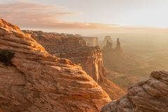 Scenic Canyonlands National Park Landscape. The scenic landscape of canyon lands national park Moab Utah Stock Images