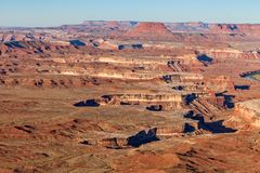 Scenic Canyonlands National Park Utah Landscape. The scenic landscape of canyon lands national park Utah Royalty Free Stock Photo