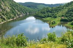 Scenic landscape of the Canyon of the River Uvac in Serbia royalty free stock photography