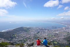 Scenic landscape of Cape town from table mountain Stock Photos