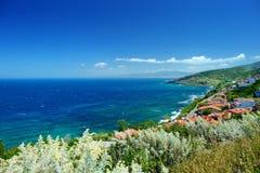 Scenic landscape of the coast of Sardinia. Italy Royalty Free Stock Image
