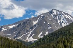Scenic Colorado Rocky Mountain Landscape. The scenic landscape of the Colorado rocky mountains in summer Royalty Free Stock Image