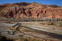 Scenic landscape in Dades Gorges, Atlas Mountains, Morocco Royalty Free Stock Photo