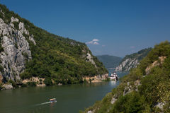 Scenic landscape of the Danube valley canyon Royalty Free Stock Photos