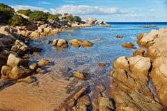Scenic landscape of Emerald coast of Sardinia. Italy Royalty Free Stock Image