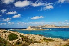 Scenic landscape of Emerald coast of Sardinia. Italy. Stintino region Stock Photos