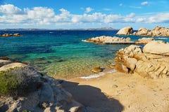 Scenic landscape of Emerald coast of Sardinia. Italy Stock Images