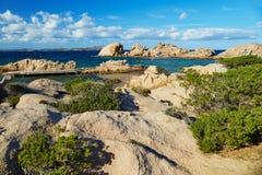 Scenic landscape of Emerald coast of Sardinia. Italy Royalty Free Stock Images