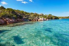 Scenic landscape of Emerald coast of Sardinia. Italy Royalty Free Stock Photography