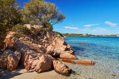 Scenic landscape of Emerald coast of Sardinia. Italy Royalty Free Stock Photos