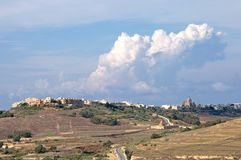 Malta, Typical landscape of cities at Gozo Island, Malta royalty free stock photo