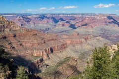 Scenic South Rim Grand Canyon. The scenic landscape of the grand canyon from the south rim Royalty Free Stock Photography