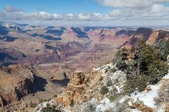 Grand Canyon South Rim in Winter Stock Photography